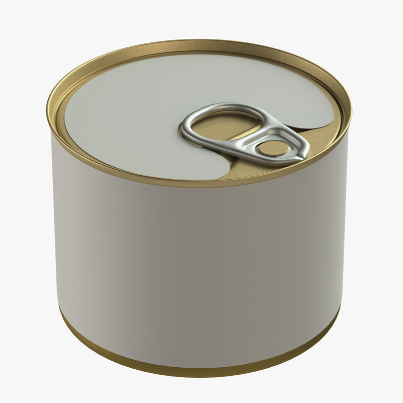 canned food tin 3D model