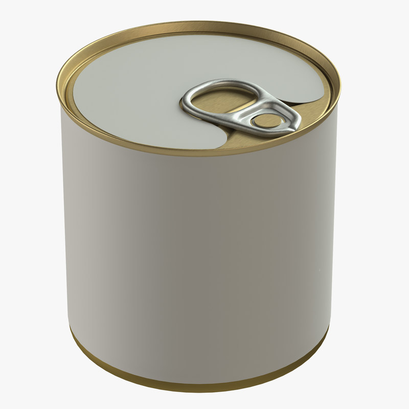 3D canned food tin
