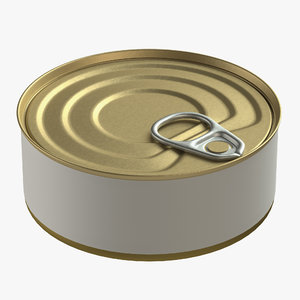 3D canned food tin model