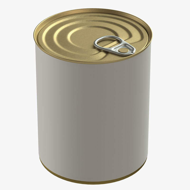 canned food tin 3D