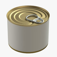 3D model canned food tin