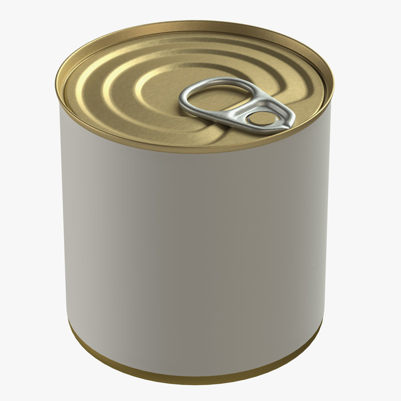 canned food tin model