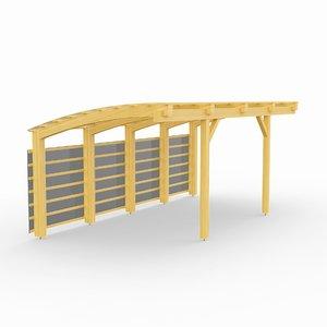 carport wood 3D model