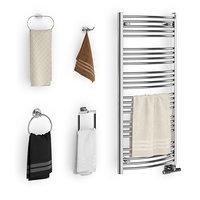 3D set towels bathroom 02 model