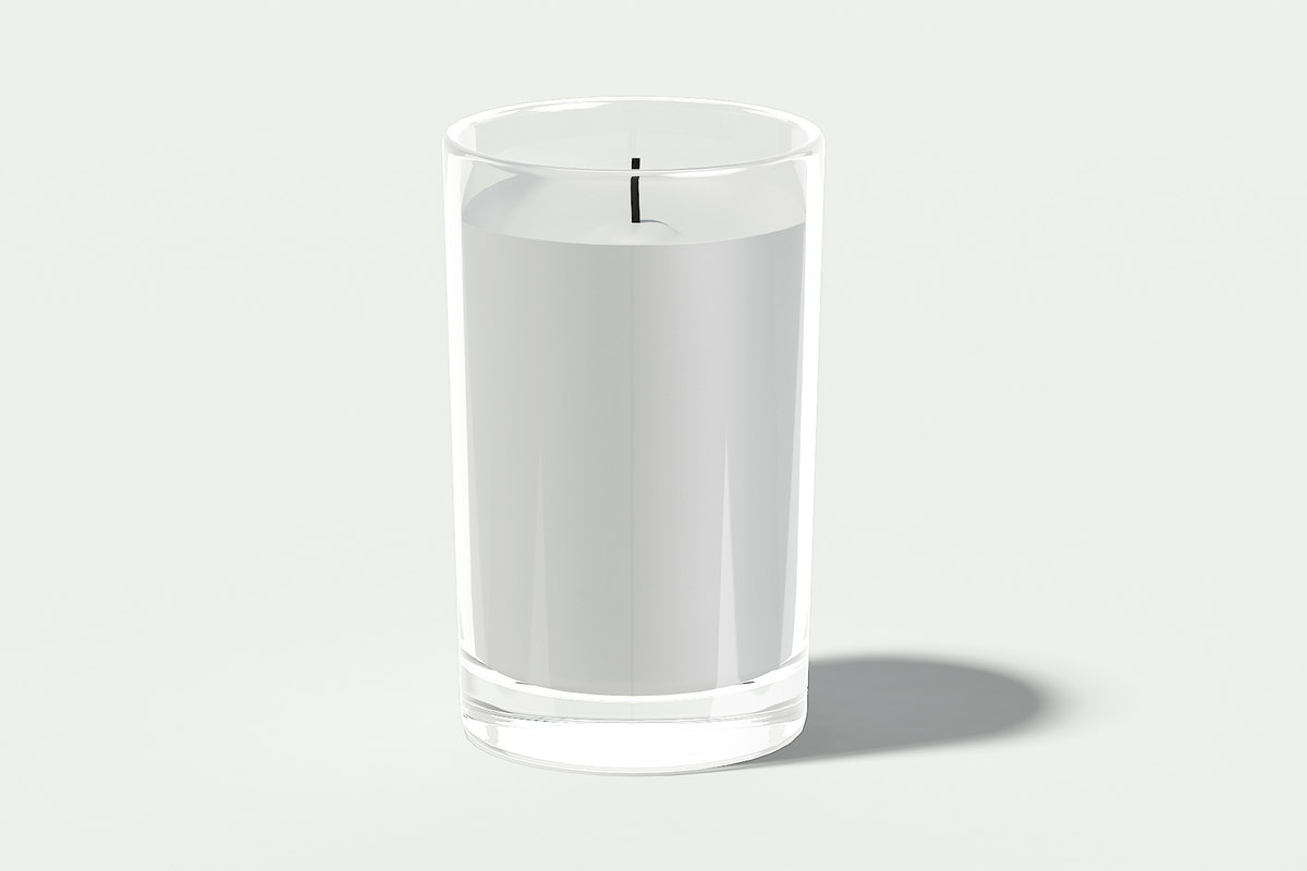 candle glass 3D model
