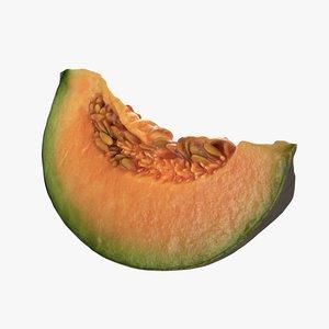 3D model melon slice