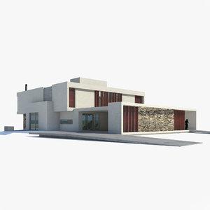 modern house h model