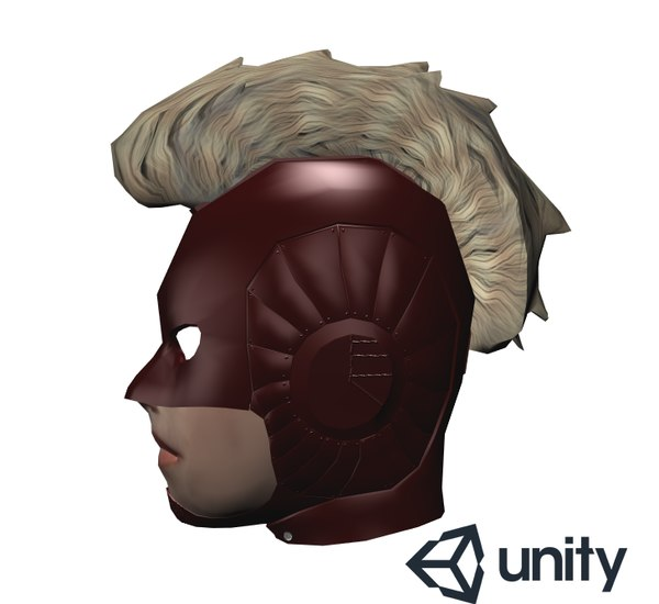 3D captain marvel head