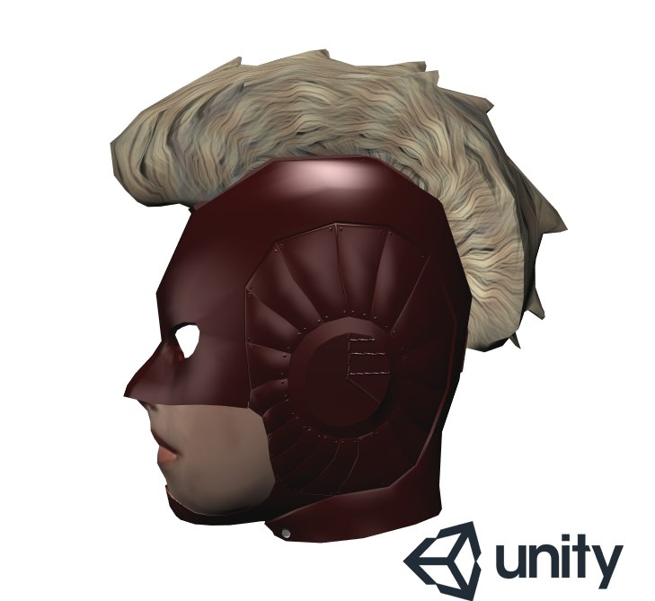 3D captain marvel head
