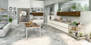 3D model realistic modern kitchen scene