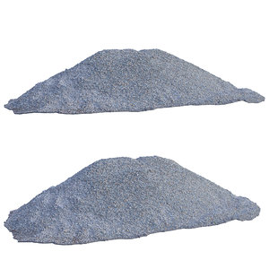ultra realistic gravel scan model