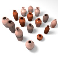 Pottery - vessels 2 LOW POLY