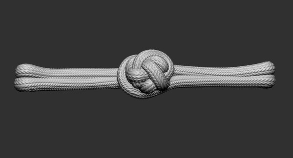chinese knot button model