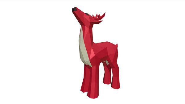 printed deer figure 3D