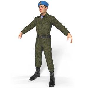 russian assault force 3D model