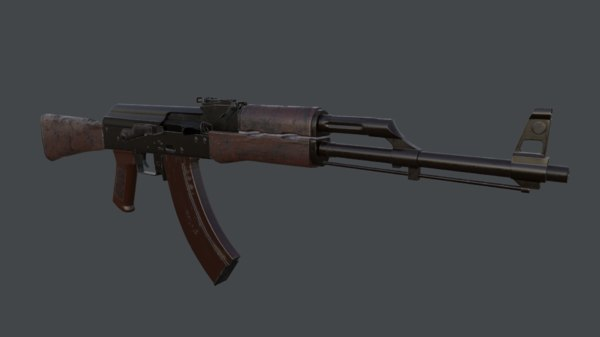 3D pbr ak rifle