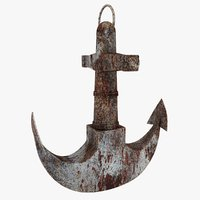3D rusty anchor 3