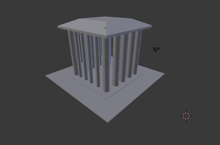 3D old temple 1 model