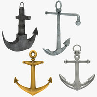 3D model anchor admiralty scanline