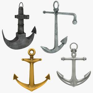 3D model anchor admiralty scanline