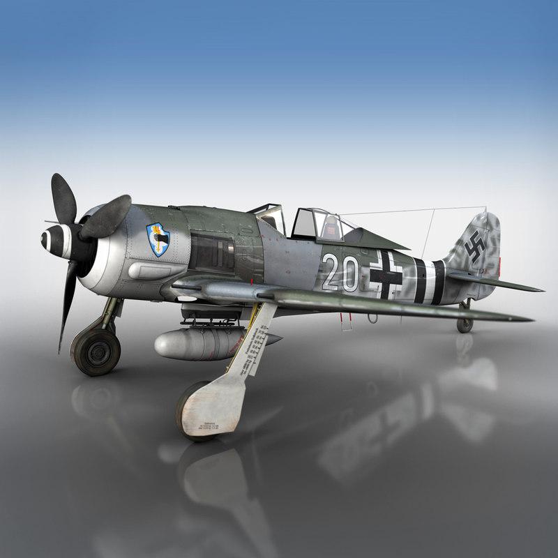 3D focke wulf - fw190 model