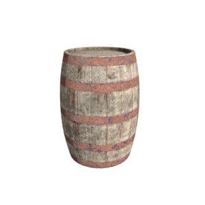 3D barrel wooden wood