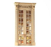 3D classical door mirror palace model