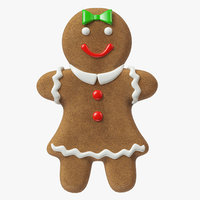 gingerbread cookie ginger 3D model