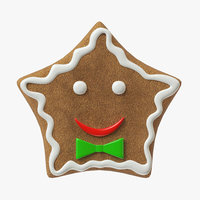 3D model gingerbread cookie ginger