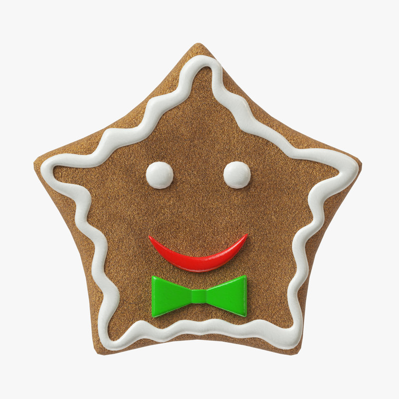 3D model gingerbread cookie ginger