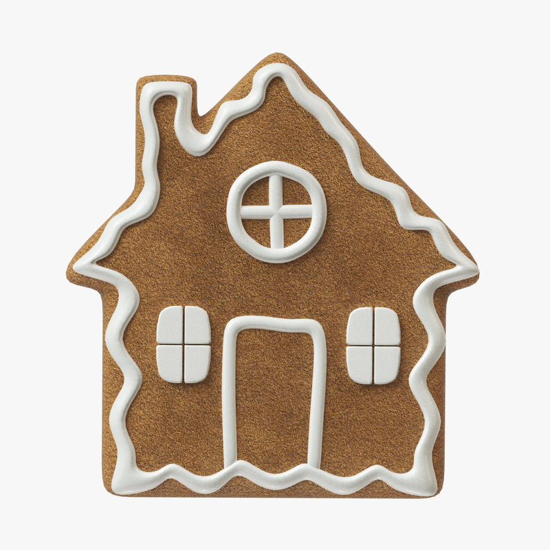 gingerbread cookie ginger 3D