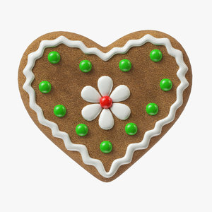 3D gingerbread cookie ginger model