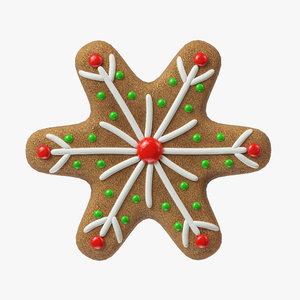 gingerbread cookie ginger 3D model