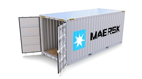 3D model 20ft shipping container