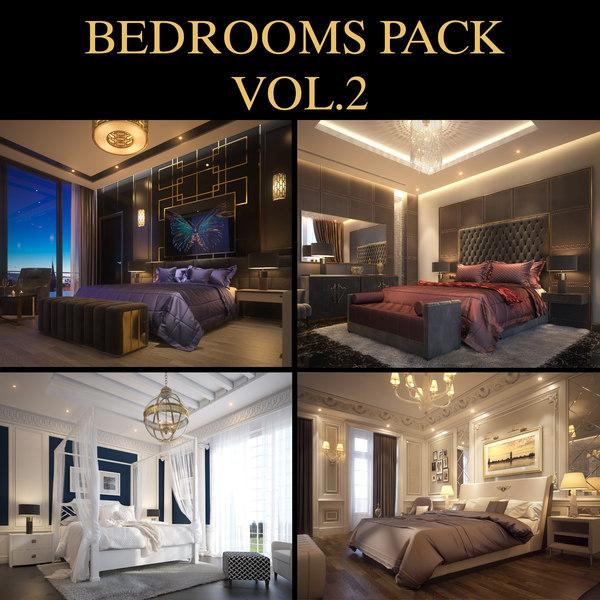 3D living bedroom 2