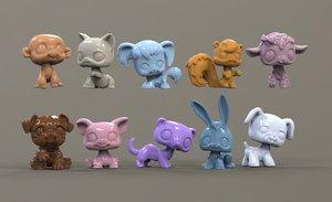 3D animals toys