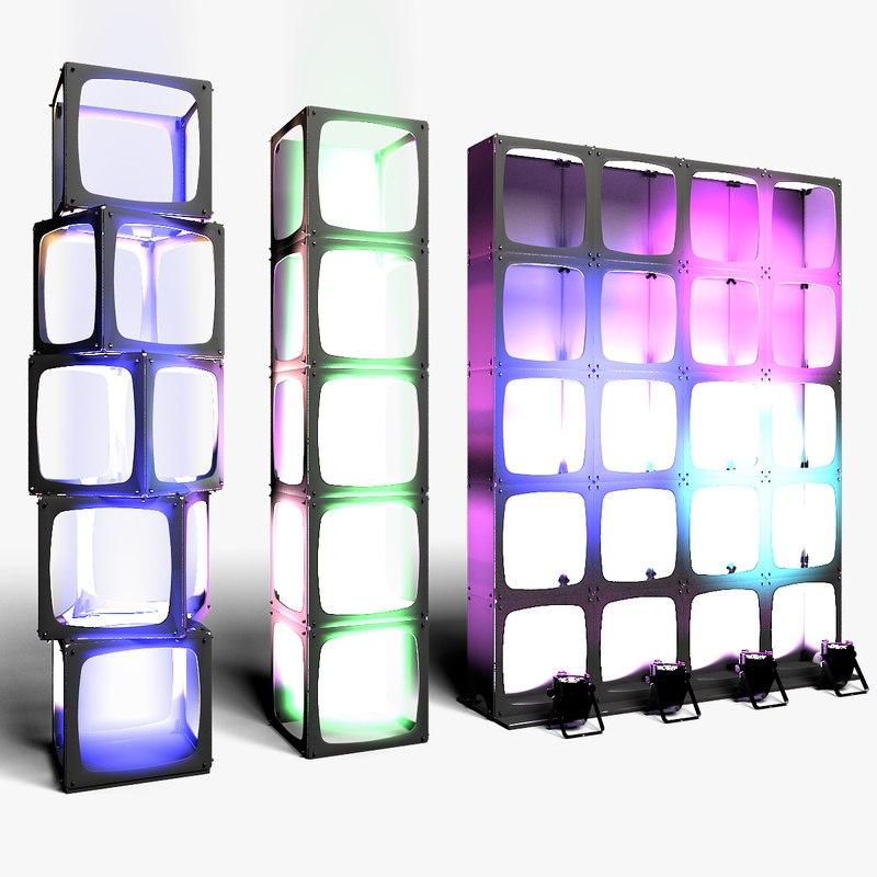 3D modular wall columns stage model