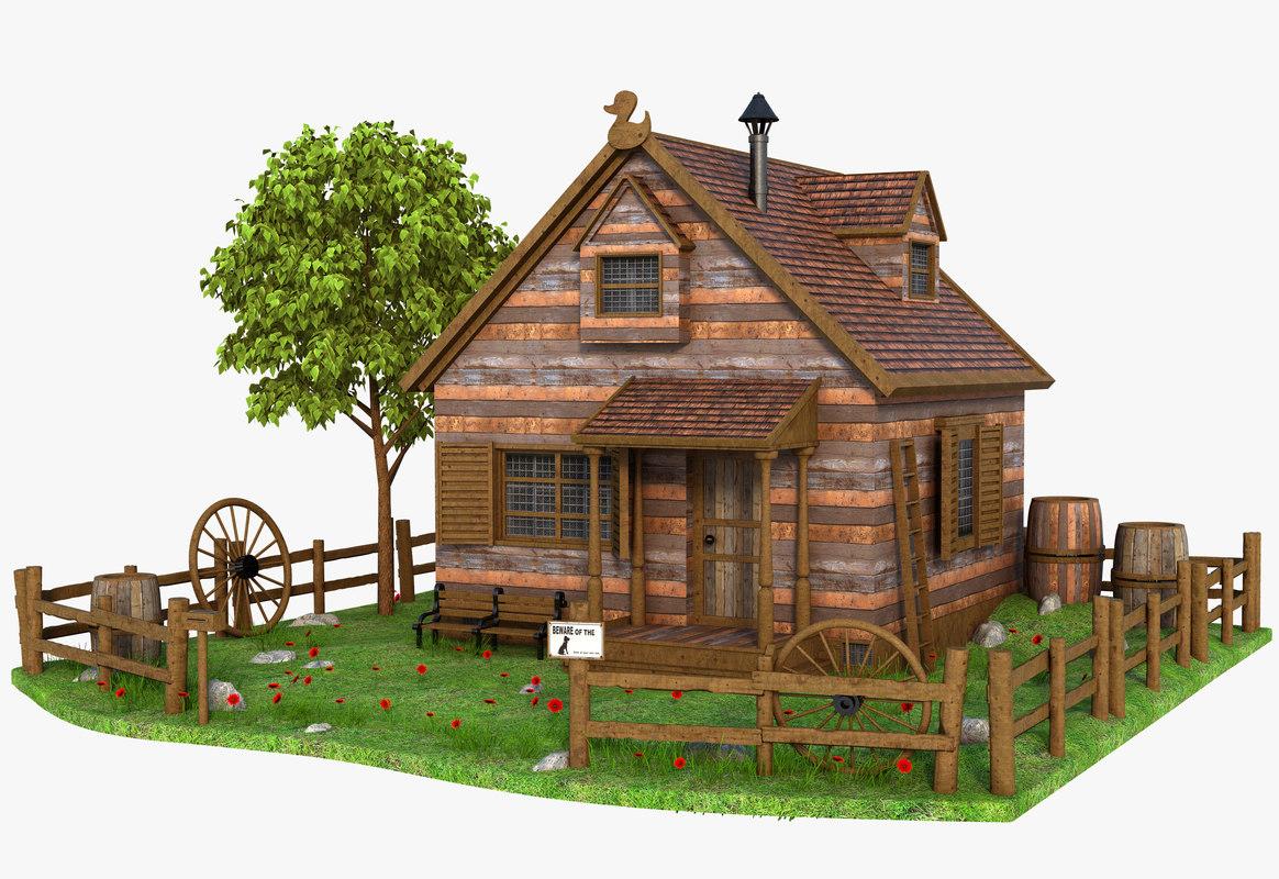 house architecture building 3D model
