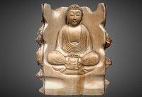 3D bouddha wooden statue model