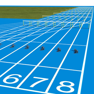 running track 3D model
