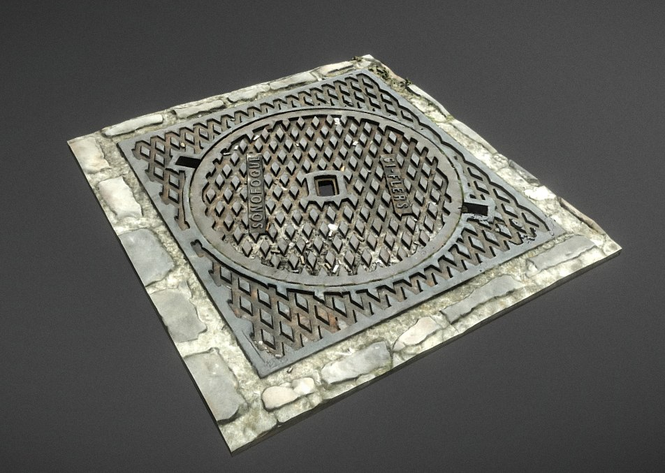 3D manhole photogrammetry model