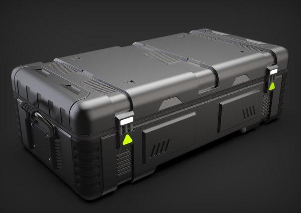 sci-fi crate hp 3D model