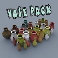 vase cartoon pack model