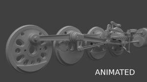 train wheel 3D model