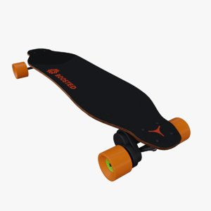boosted board 3D model