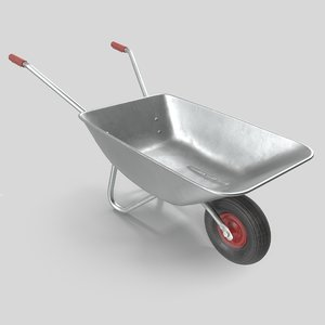 3D wheelbarrow metall unreal