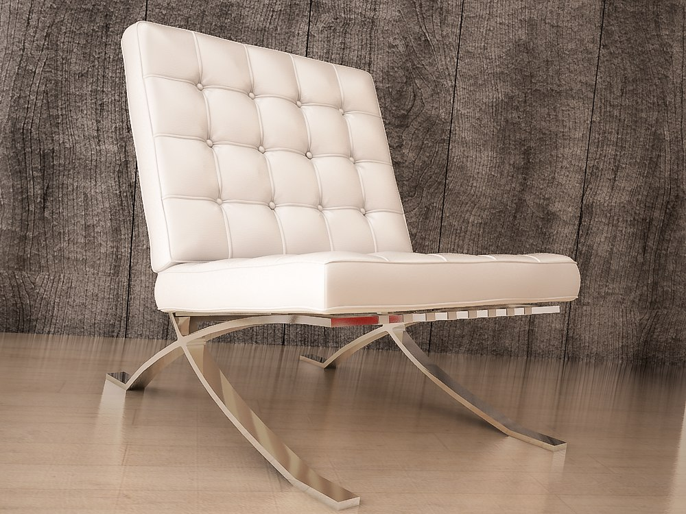 3D model chair barcelona l