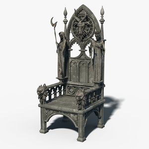 gothic throne 3D model