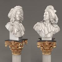 effectivepoly bust aristocrat 3D model