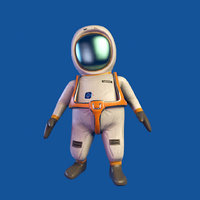 cartoon astronaut animations model